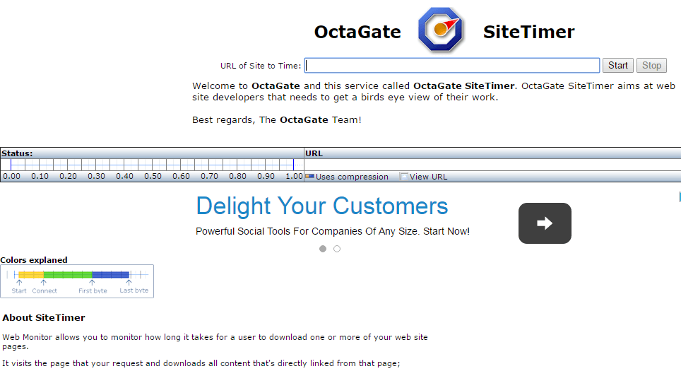 test de velocidad con OctaGate