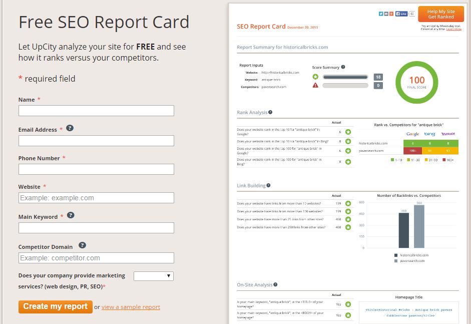seo analytics-SEO Report Card