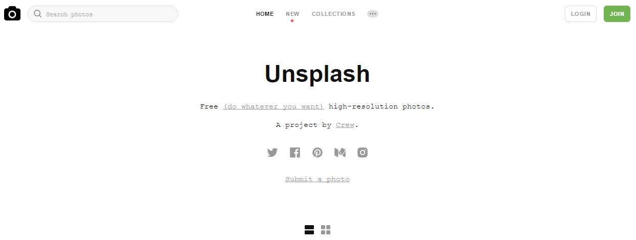 Recursos para el marketing visual - Unsplash