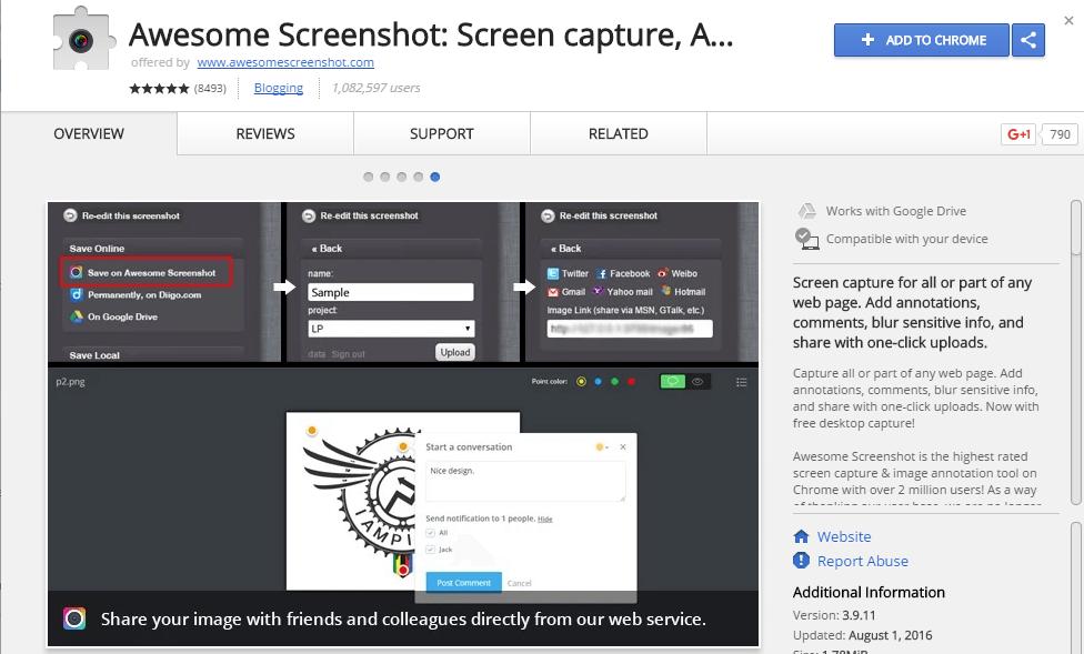 Recursos para el marketing visual - Awesome Screenshot