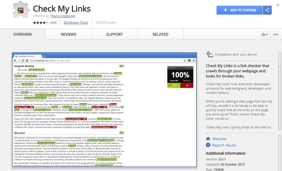 seo analytics-check my links