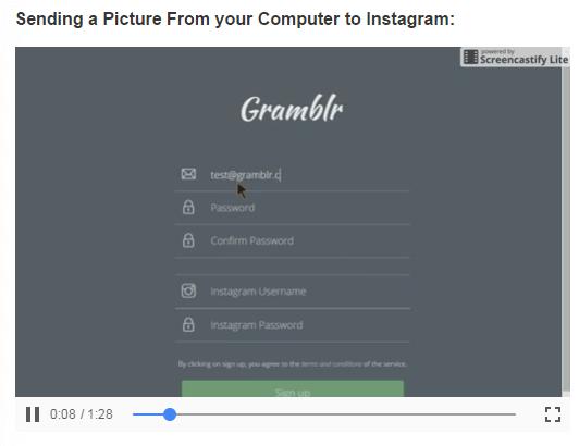 Pinterest e Instagram-Aplicación web Gramblr