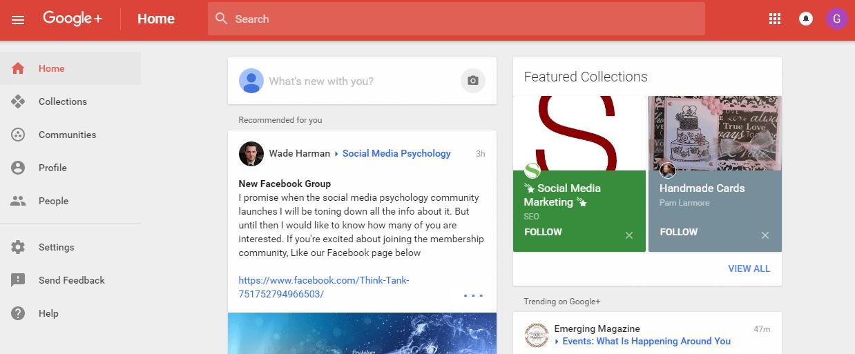 comunidad en Google PLUS