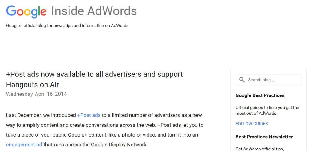 google plus - google adwords