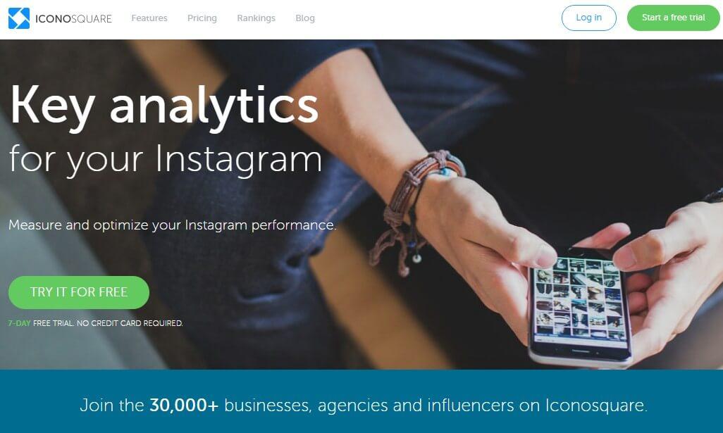 Pinterest e Instagram-Iconosquare analytics
