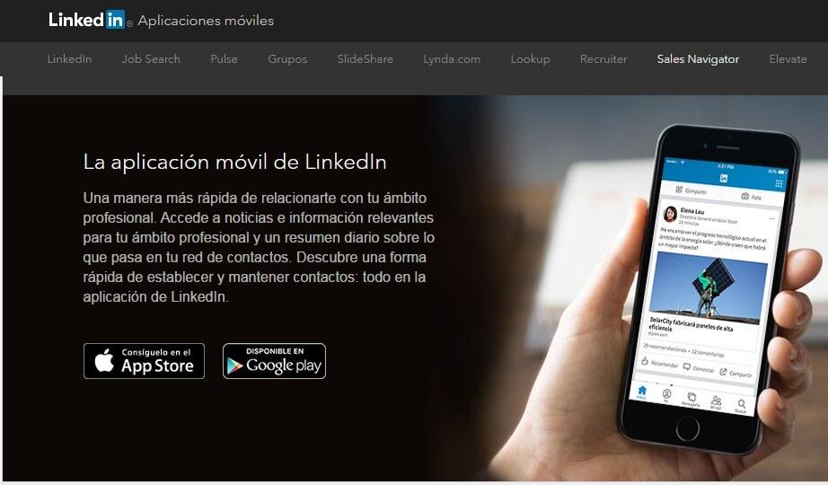 LinkedIn Aplicaciones Móviles