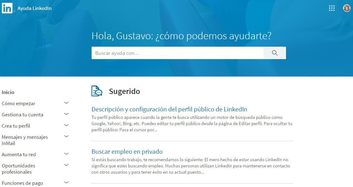 Linkedin empresas-Linkedin ayuda