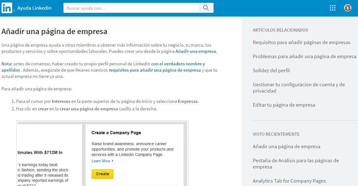 Linkedin empresas-Linkedin página empresa