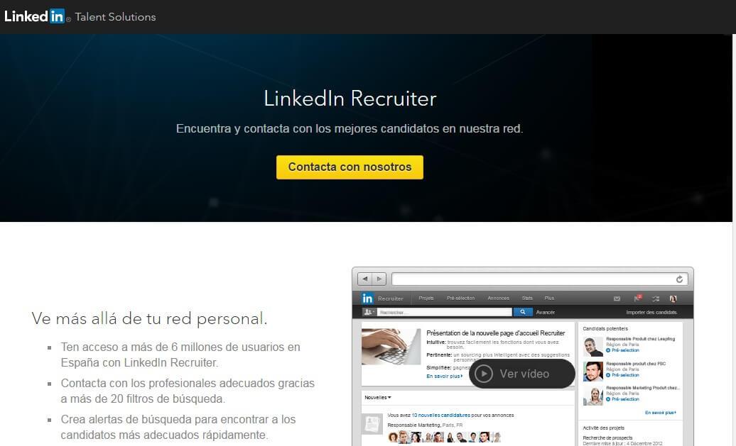 Linkedin empresas-Linkedin recruiter