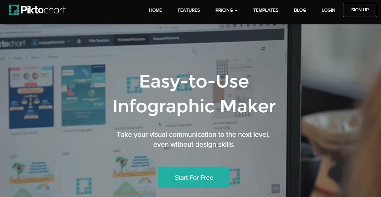 Recursos para el marketing visual - Piktochart