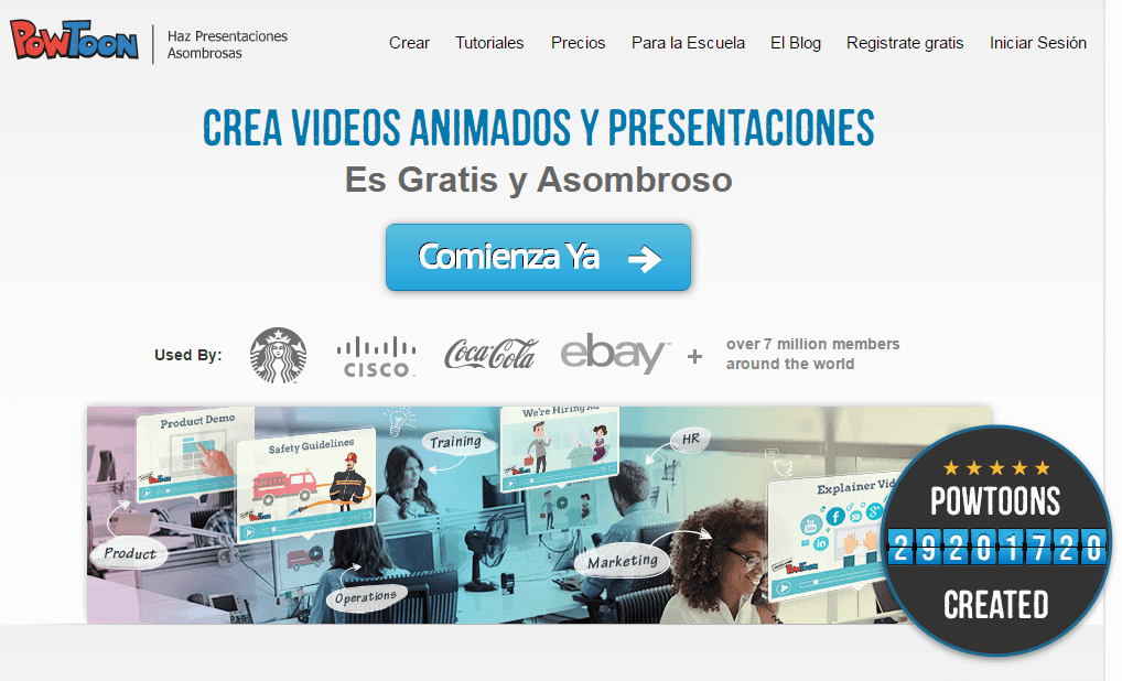 Recursos para el marketing visual - Powtoon