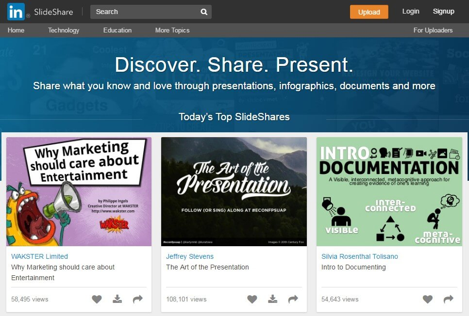 SlideShare analytics