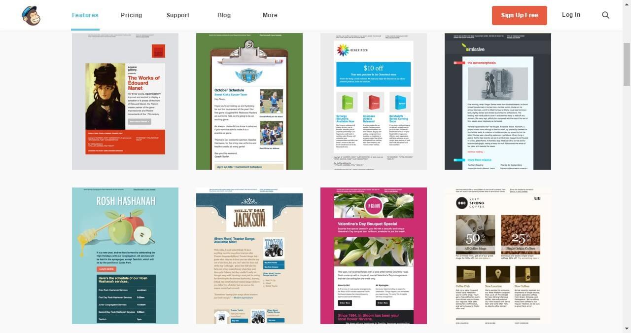 Plantillas para newsletters en Mailchimp