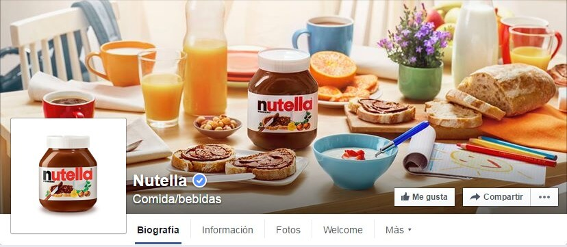 marketing social-Nutella en Facebook