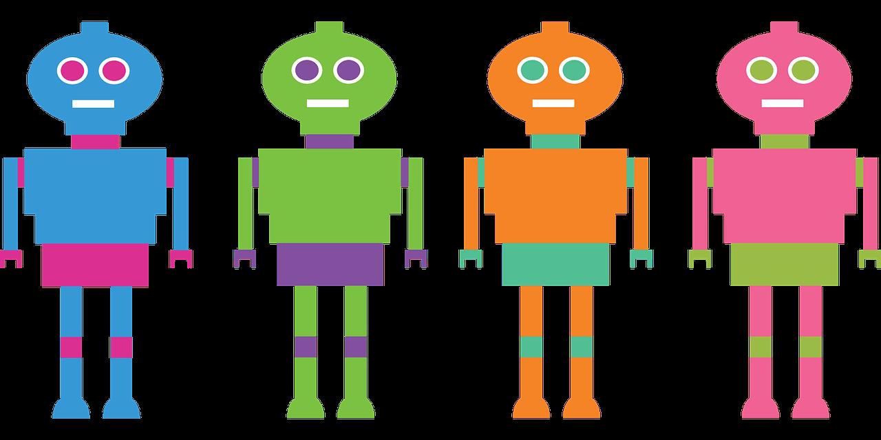 representación de los rastreadores de Internet, bots.