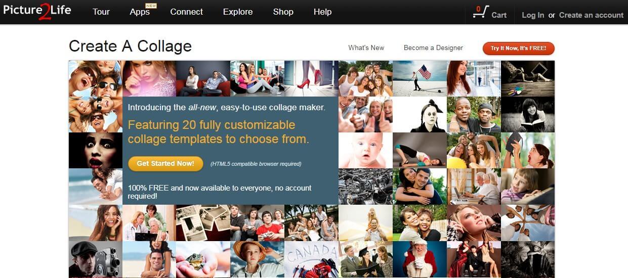 Collage de fotos PICTURE2LIFE
