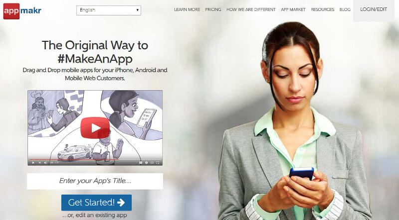 crear aplicaciones moviles appmakr