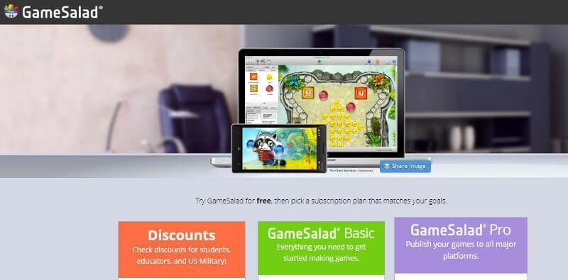 crear aplicaciones móviles gamesalad