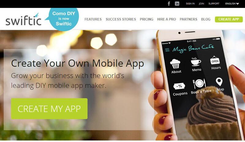 crear aplicaciones móviles swiftic