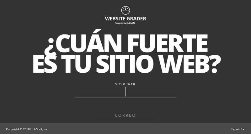 analisis de la competencia website-grader