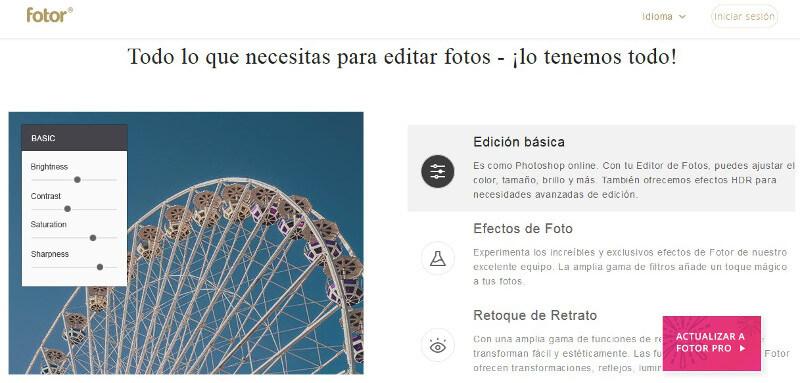editor de imagenes online gratis _fotor