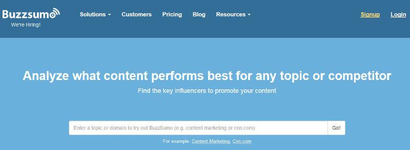 herramientas de gestion de Twitter _BuzzSumo